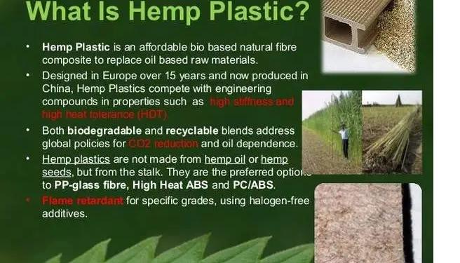 Hemp-based Plastics